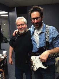 John with session guitarist Mike Gladstone